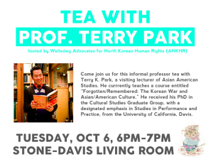 ANKHR Professor Tea with Terry Park